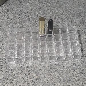 Acrylic lipstick stand holds 36 pieces